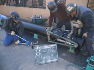 配水管布設工事